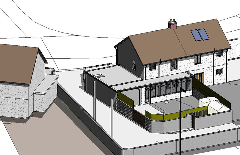 TWO STOREY NZEB EXTENSION TO TWO STOREY SEMI- DETACHED HOUSE IN LAYTOWN CO.MEATH
