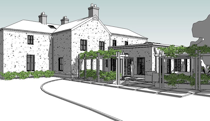 SINGLE STOREY NZEB EXTENSION TO TWO STOREY DETACHED PERIODHOUSE IN DROGHEDA CO.LOUTH